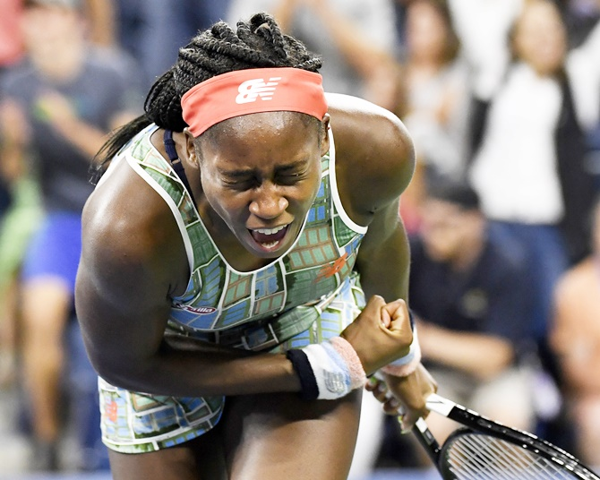 'You can't curse,' Gauff admonishes dad