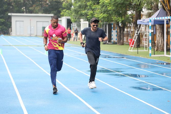 Yohan Blake and Anil Kapoor