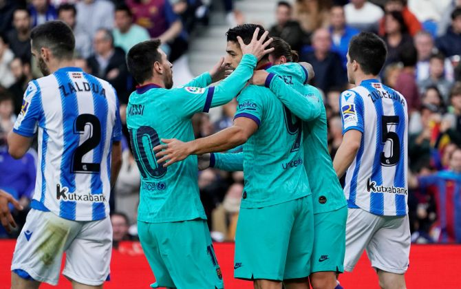 La Liga Photos: Leaders Barca stumble at Sociedad