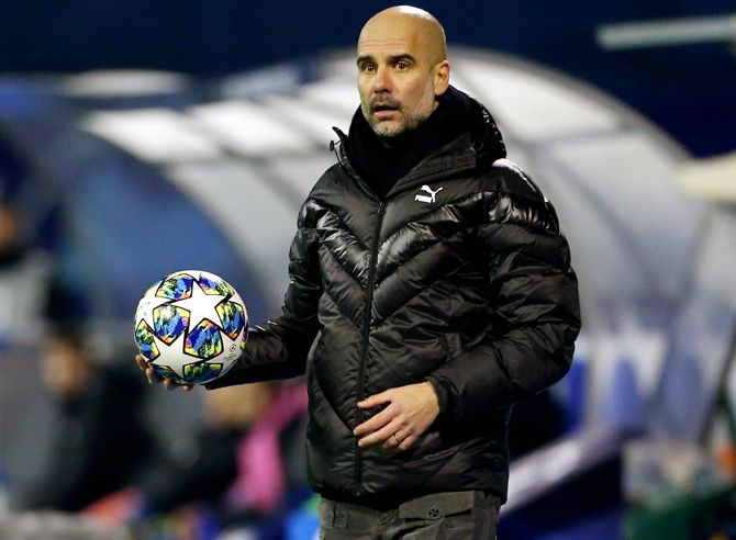 Pep Guardiola said all he can go is pray that no players get injured because of the tight schedule.