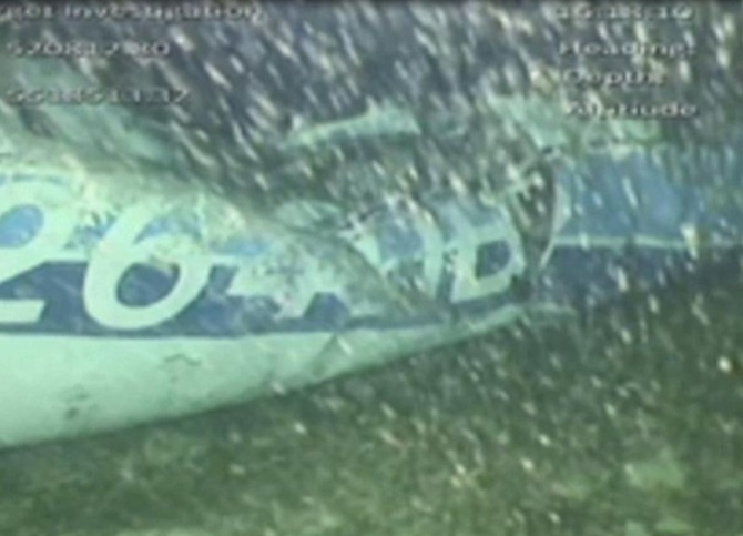 he wreckage of the missing aircraft carrying soccer player Emiliano Sala is seen on the seabed near Guernsey, in this still image taken from video taken on February 3