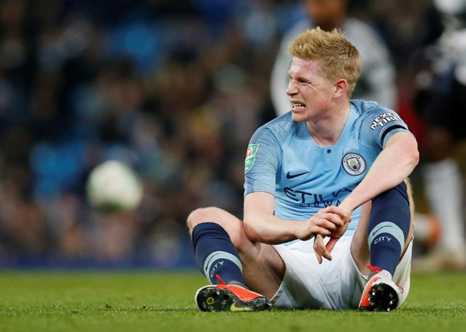 Rediff Sports - Cricket, Indian hockey, Tennis, Football, Chess, Golf - EPL: De Bruyne may not start against Chelsea, says Guardiola