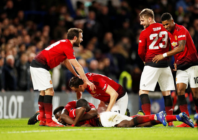 Rediff Sports - Cricket, Indian hockey, Tennis, Football, Chess, Golf - PHOTOS: United dump holders Chelsea out of FA Cup