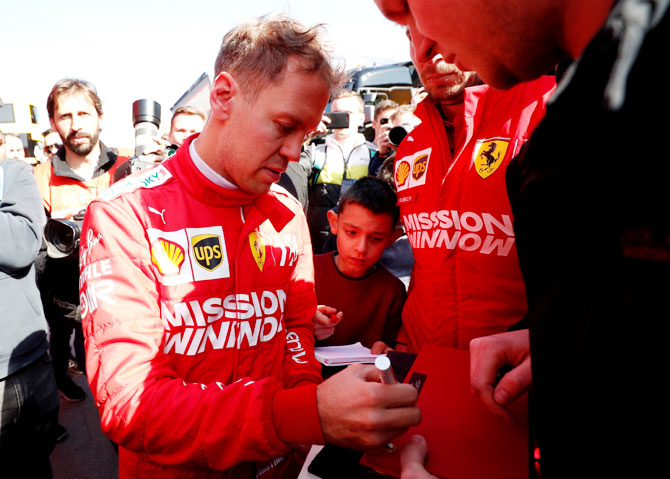 Rediff Sports - Cricket, Indian hockey, Tennis, Football, Chess, Golf - In his fifth year at Ferrari, can Vettel do a Schumi?