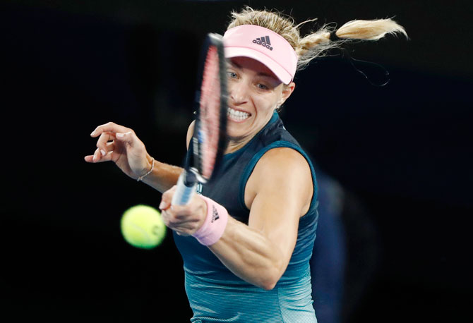 Germany's Angelique Kerber in action during her 3rd round match against Australia's Kimberly Birrell