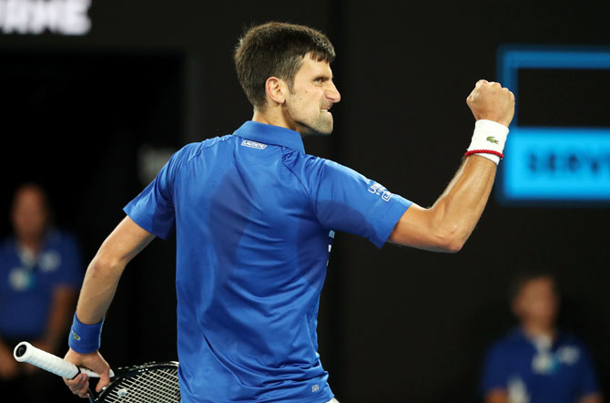 Djokovic had five breaks of serve while conceding only a single break point against an opponent, who was yet to lose a set en route to the final