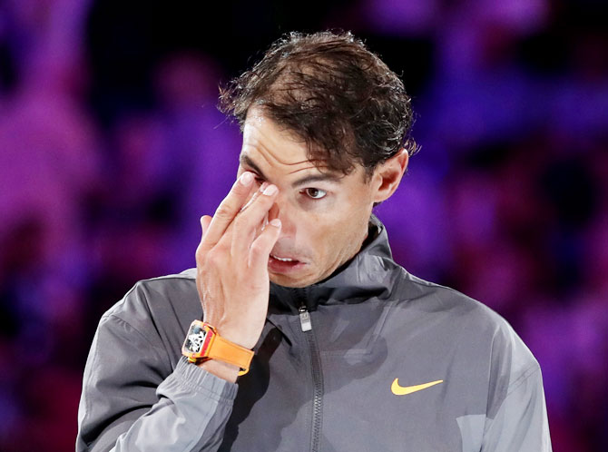 Rafael Nadal, the Spanish second seed, came into the clash in outrageous form but was dominated throughout the 6-3, 6-2, 6-3 loss at Rod Laver Arena, the worst in his Grand Slam rivalry with the World No 1