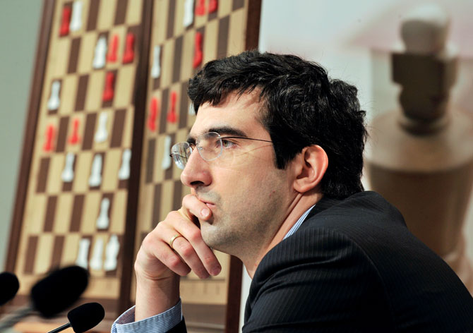 Former chess World champ Kramnik to coach 14 Indians
