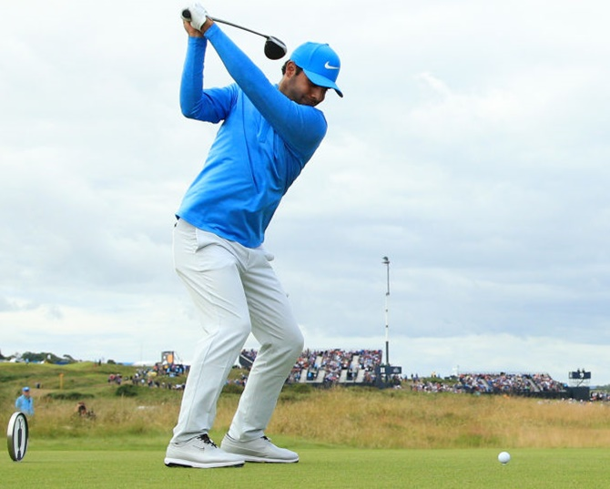 British Open: Sharma set to make cut; Woods to miss it