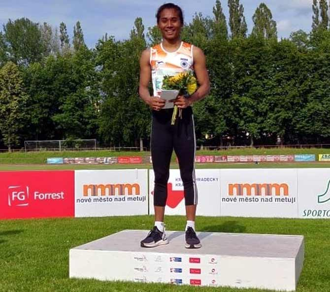 Hima wins 400m to continue golden run in July