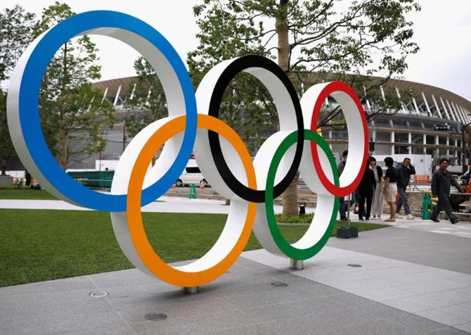 The Olympic rings debuted at the 1920 Games in Antwerp.