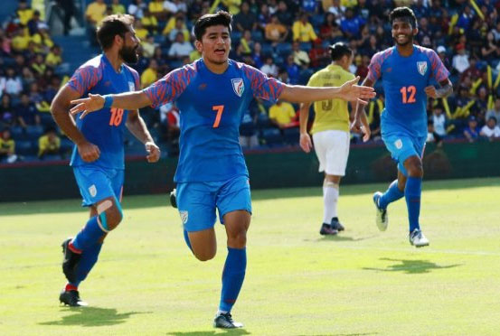 Anirudh Thapa scored the winner for India against Thailand on Saturday