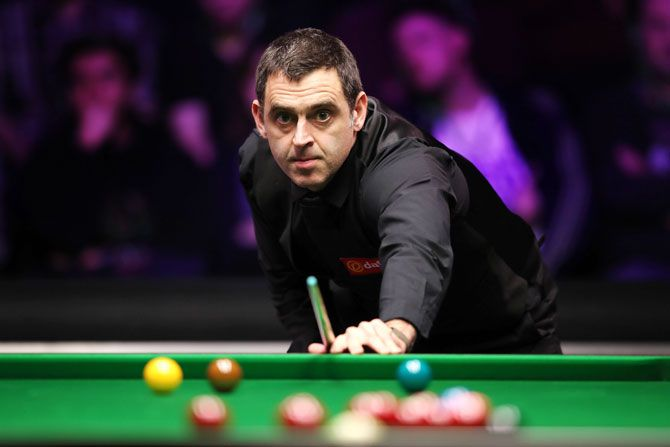 British snooker player Ronnie O'Sullivan
