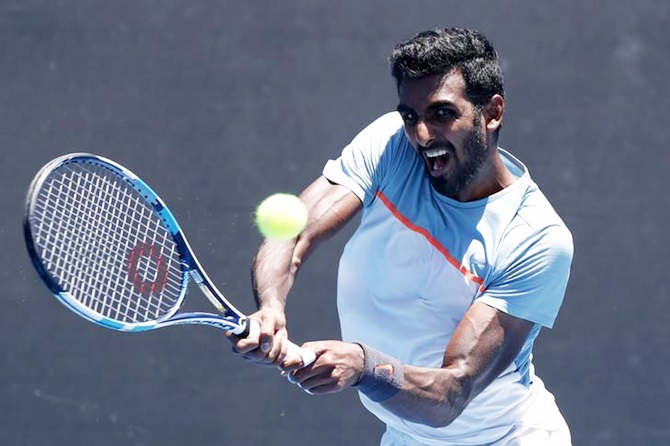 Shorts: Prajnesh advances; Bopanna-Sharan crash out