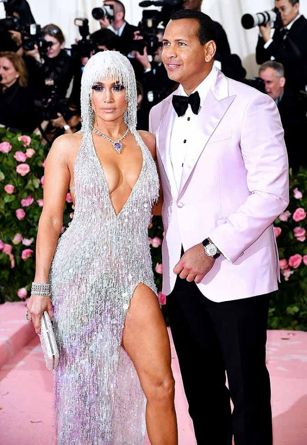 Singer-actor Jennifer Lopez and her fiance, former American football player Alex Rodriguez attend The 2019 Met Gala Celebrating Camp: Notes on Fashion at Metropolitan Museum of Art in New York City on Monday