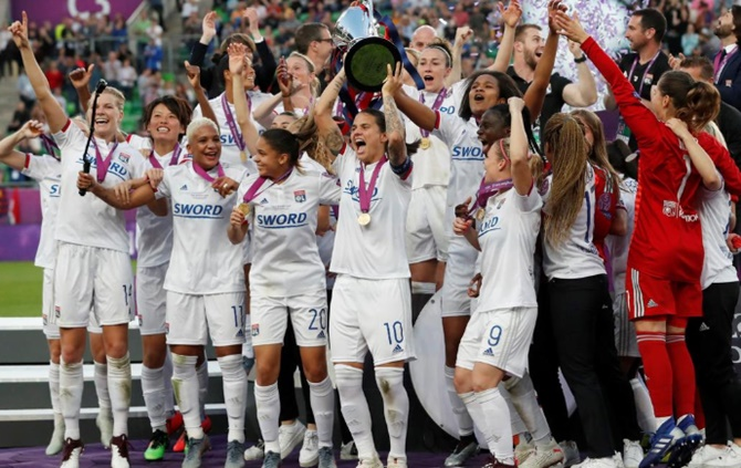 Football PIX: Lyon demolish Barca to win Women's CL