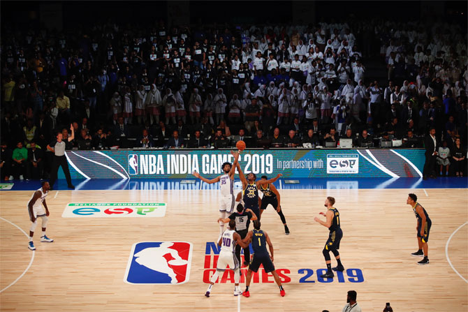 Players tip off during the NBA India Games in October 2019. (Image used for representational purposes)