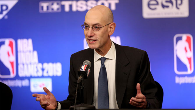 NBA commissioner Adam Silver does not see any games starting right away