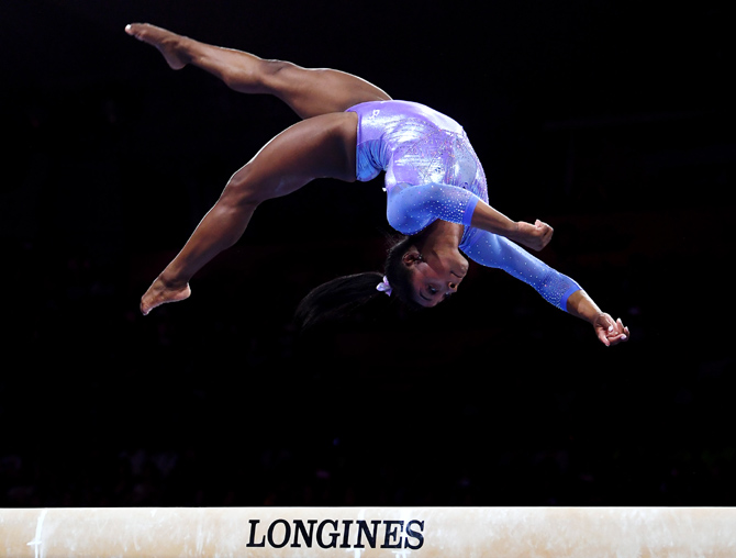 Biles wins record 25th World Championship medal