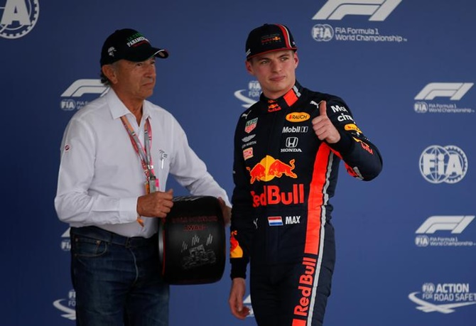 Red Bull's Max Verstappen after the qualifying session for the Formula One Mexican Grand Prix