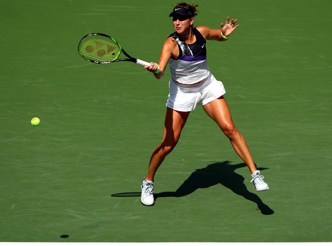 Belinda Bencic stunned world number one and defending champion Naomi Osaka earlier in the week
