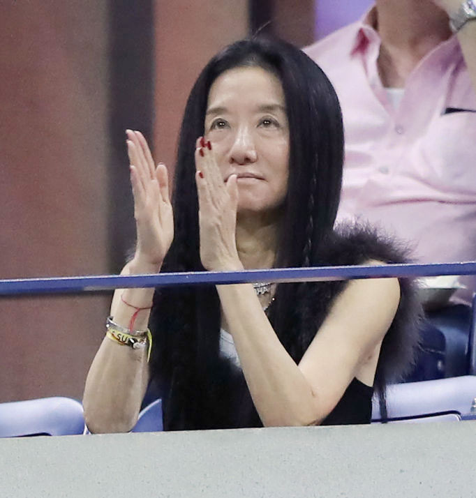 American fashion designer, Vera Wang was watching as Serena Williams thrashed Qiang Wang in the quarter-final