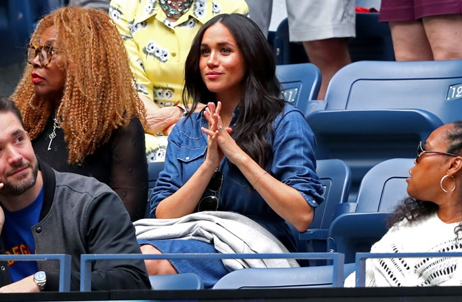 Serena Williams offers support to Meghan