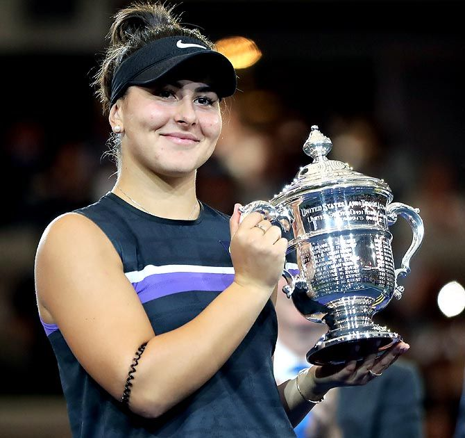 Bianca Andreescu, at the end of 2018 was ranked 178th but finished this season at number five