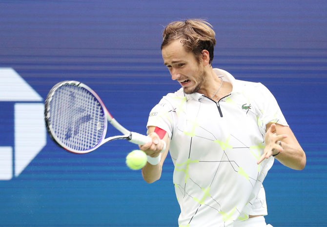 The 23-year-old Daniil Medvedev, who had got on the wrong side of fans at Flushing Meadows with a string of on-court antics, arrived at his maiden Grand Slam final to a chorus of boos.