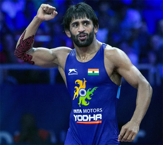 Wrestler Bajrang wins bronze in World Championships