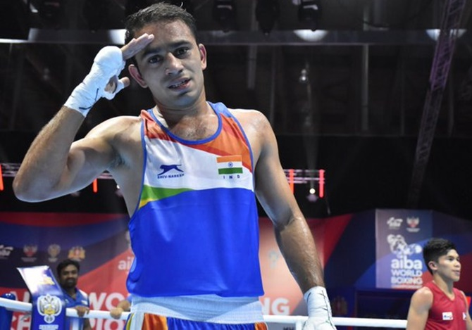 Boxing Worlds: Amit Panghal first Indian to enter finals