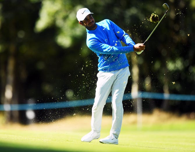 Shubhankar enters top-10 at BMW PGA