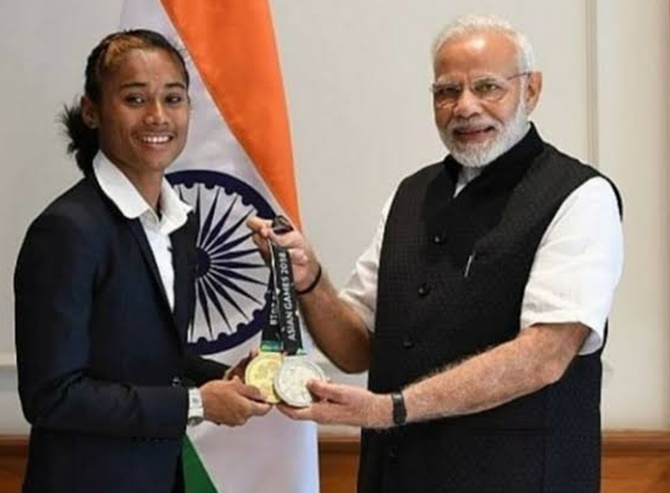 Here's what Hima Das told PM Modi...