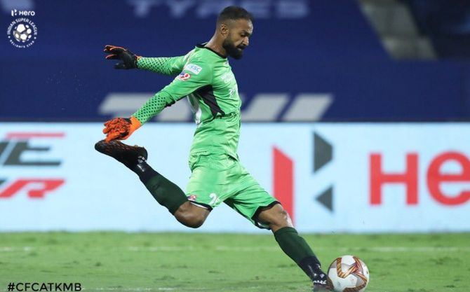 ATK Mohun Bagan goalkeeper Arindam Bhattacharya pulled off a few saves against Chennaiyin FC on Tuesday and was rightly named Player of the Match