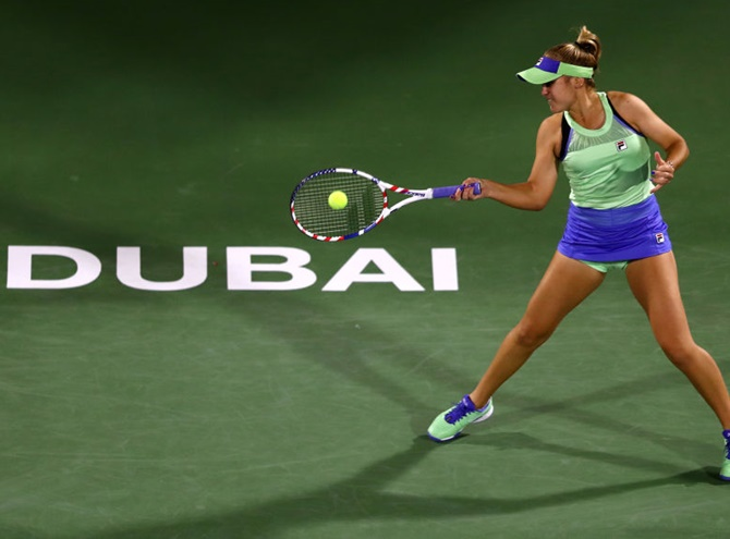 Dubai 2020: Kenin, Bencic fall on day of upsets
