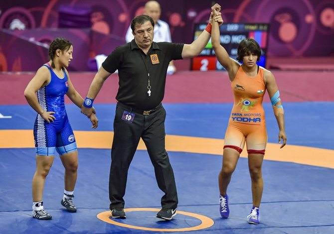 Kakran, Mor, Pinki win Asian Wrestling gold