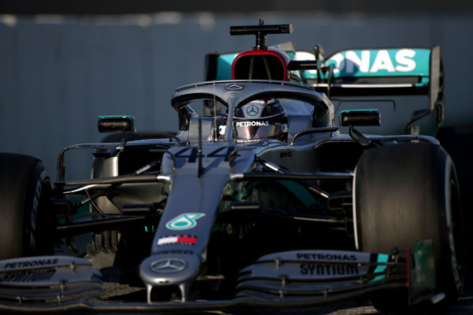 PHOTOS: Why Mercedes caused a stir in F1 testing
