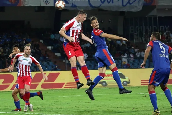 Indian Football: Late goals help ATK hold Bengaluru