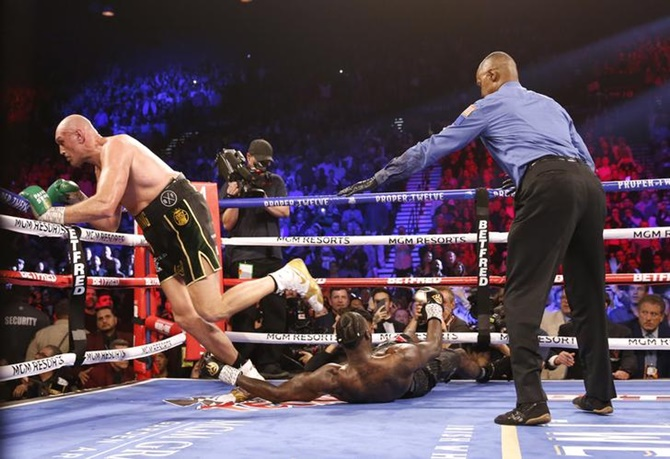 Fury annihilates Wilder in heavyweight title rematch