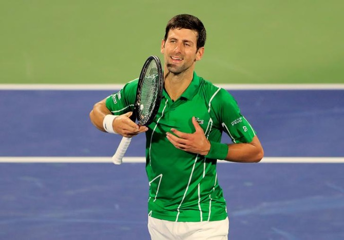 Dominant Djokovic marches into Dubai quarter-finals
