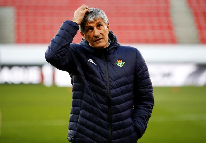 Newly appointed Barcelona coach Quique Setien has not won any trophies with his previous clubs