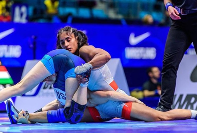 Wrestling: Vinesh wins gold at Rome Ranking event