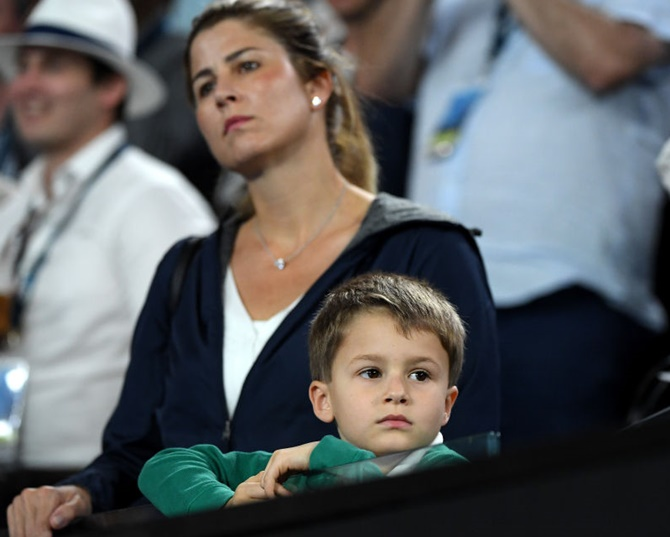 Pix Federer S Children Steal The Show At Aus Open Rediff Sports