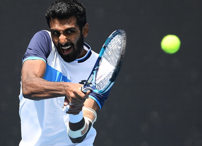 Indians at Australian Open: Prajnesh crashes out