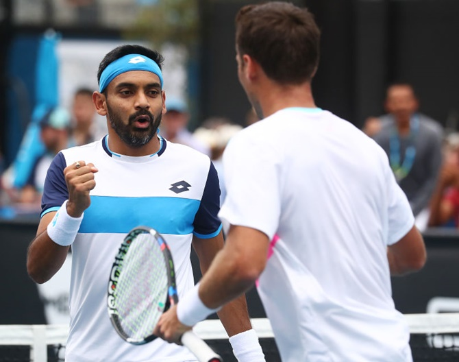 Indians at Aus Open: Divij advances to doubles 2nd rd