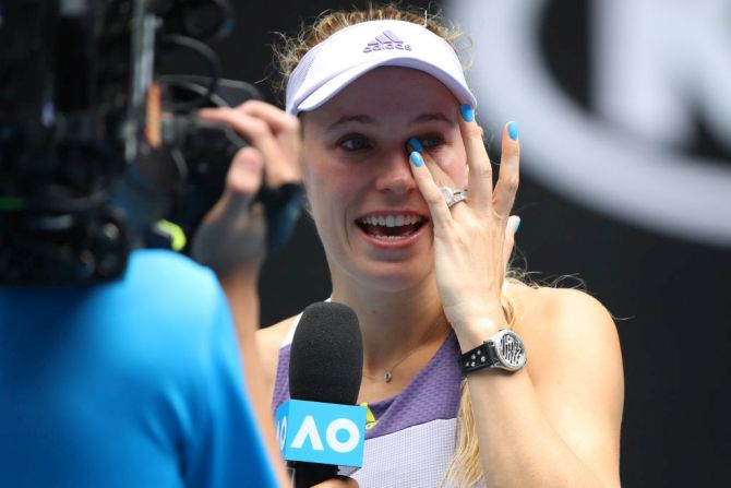PIX: Tearful Wozniacki heads into retirement