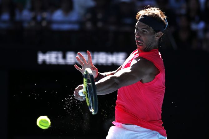 Nadal struck 42 winners to just seven unforced errors in his fifth straight win over 30th-ranked Carreno Busta on Saturday