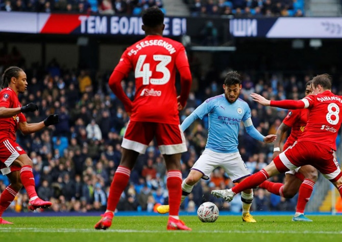 FA Cup: City punish 10-man Fulham to reach last 16