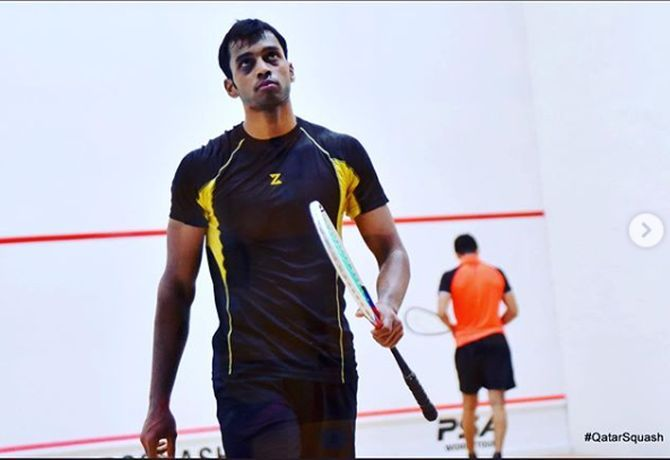 26-year-old Mahesh Mangaonkar has been working on his fitness and discovered his love for science behind squash