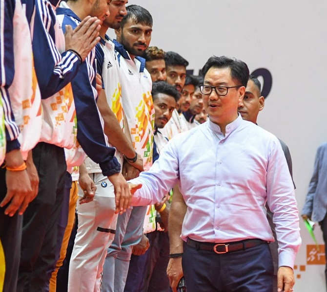 Can't risk health for sport: Sports Minister Rijiju